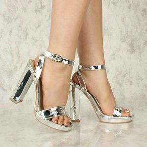 Forever sliver star high heels. NWT